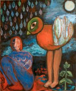 Woman and a bird II