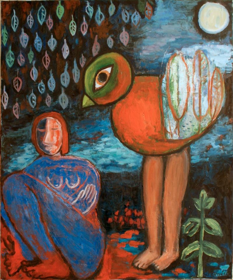 Žena a pták II / Woman and a bird II