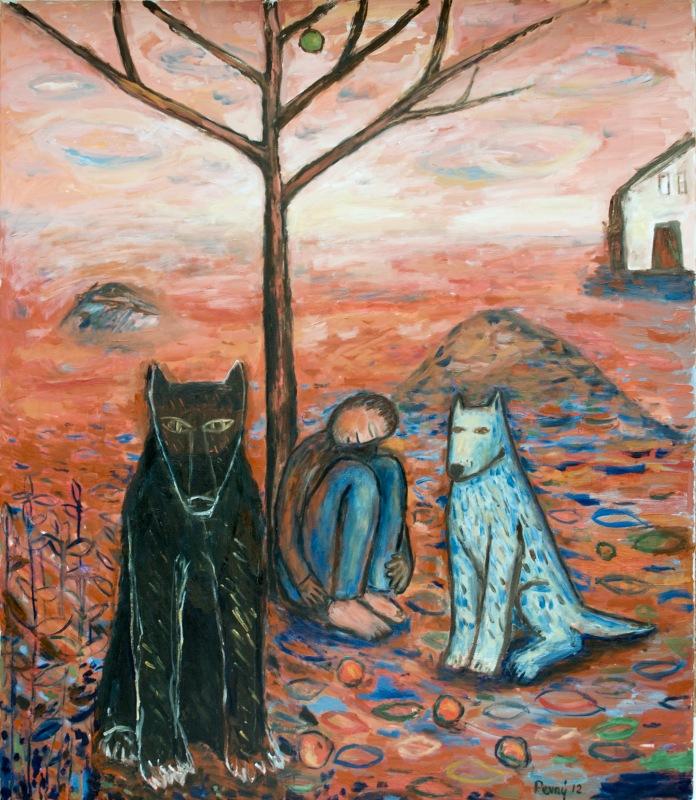 Muž, vlk a pes